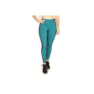 Imagem de Legging Feminino Alcaçuz BM9 Ilusione Verde Academia Pilates Musculação Corrida