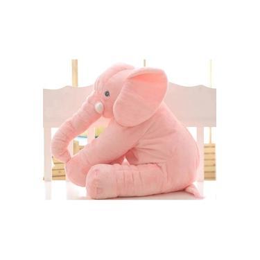 Imagem de Elefante de Pelúcia 60cm Almofada Cinza