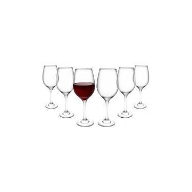 Jogo de Taças para Vinho Vidro 6 Peças 385ml - Nadir Barone