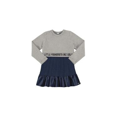 Vestido Infantil Inverno Cinza Little Alakazoo
