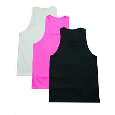 kit 3 regatas feminino nadador academia musculação fitness (diversas, p)