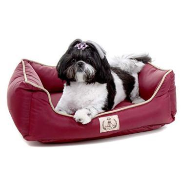 Cama para Cachorro Pet Barcelona - GG - Vinho - Bichinho Chic