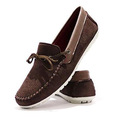 Sapatenis Masculino Dockside Sapato Casual Social Mocassim Marrom Escuro