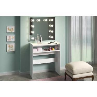 Imagem de Mesa Para Manicure Porta Esmaltes Bancada Salão De Beleza - Clickforte