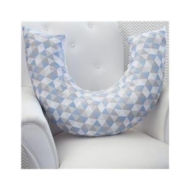 Almofada de Amamentação Losango Azul