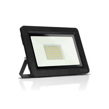 Refletor de LED 100W Holofote Super Slim IP65 Branco Frio 6500K Power XL