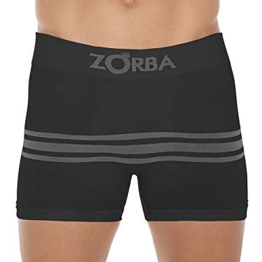 Cueca Boxer Zorba Seamelss Listras 843 P Preto