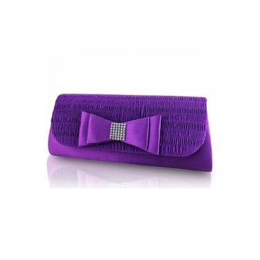 Bolsa De Festa Jacki Design Ath28020 - Violeta Escuro
