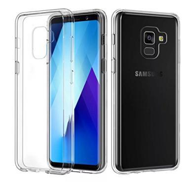 Kit Capa Incolor Flexível Galaxy A8 2018 e Película