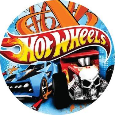 Imagem de Painel Redondo Personalizado Tema Hotwheels - Silk Plac