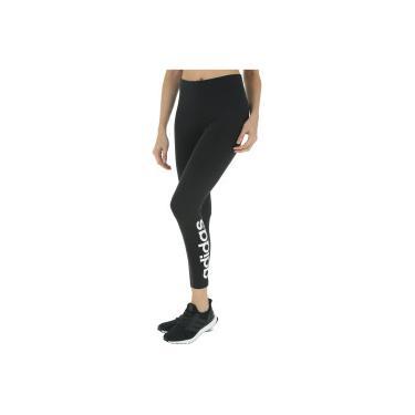 Calça Legging adidas Essentials Linear - Feminina - Preto Mescla adidas 19927c89986dc