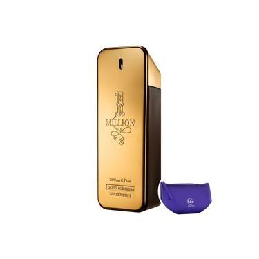 1 Million Paco Rabanne Eau de Toilette - Perfume Masculino 200ml+Nécessaire