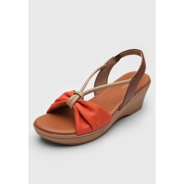 Sandália Usaflex Nó Laranja/Caramelo Usaflex AD2403 feminino