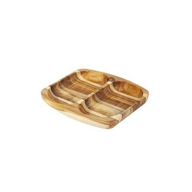 Imagem de Petisqueira madeira Teca 24,5 x 21,5 cm Stolf Marrom