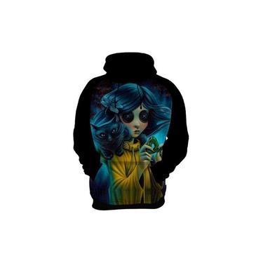 Blusa De Frio Moletom Coraline E O Mundo Secreto Botões Hd 2