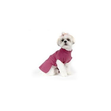 Roupa de Frio Vestido Básico para Cachorro e Gato Pet - TAMANHO 01 - Bordô - Bichinho Chic