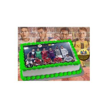 PS4 XBOX GAME - Papel De Arroz Comestível Para Bolo FIFA 16 E 18 A4 20x30cm Mod.03