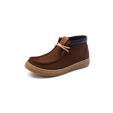 Bota Masculina Casual Em Couro Shoes Grand Taupe 6279/1  masculino