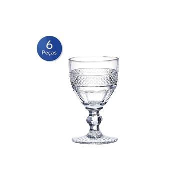 Conjunto 6 Taças de Vidro para Vinho 210ml Mirano - Bon Gourmet - Transparente