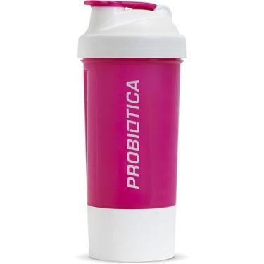 Coqueteleira Premium 2 Doses Rosa E Branca 500ml ProbiÓTica
