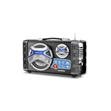 Caixa Multi Connect Mondial Mco-03 50W Bluetooth USB Rádio FM entrada Microfone - Preto