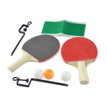 Kit Ping Pong Completo Com Raquete, Bolinhas, Suporte E Rede