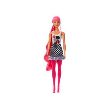 Imagem de Boneca Barbie Fashionistas - Color Reveal Monocromática Mattel