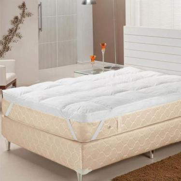 Imagem de Pillow Top Solteiro Fibras Siliconizadas 233 Fios Branco Plumasul