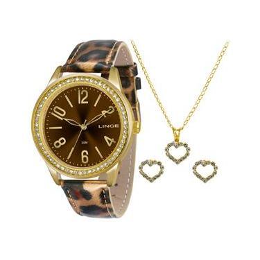23d48141184 Relógio Feminino Analógico Lince Fashion LRC4338L-K153N2MP Kit Bijuteria –  Onça