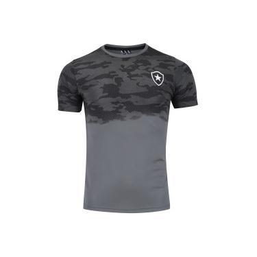 Camiseta do Botafogo Camo - Masculina - CINZA ESCURO Braziline 2b4c6352ce0b1