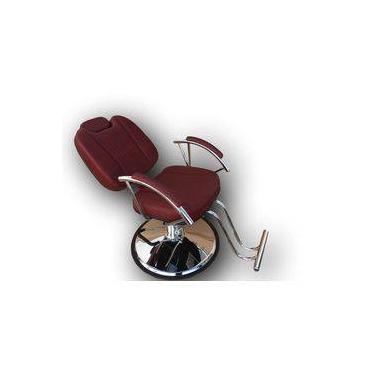 Imagem de Cadeira Poltrona Hidráulica Reclinável Milano Para Salão De Beleza, Cabeleireiro, Barbeiro