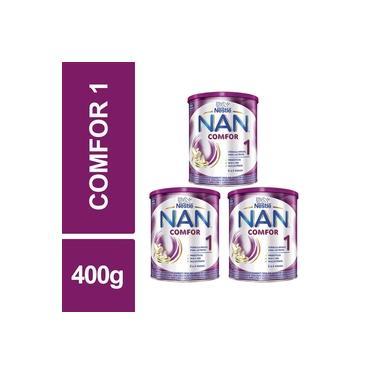 Fórmula Infantil NAN Comfor 1 Nestlé 400g Lata Kit 3un