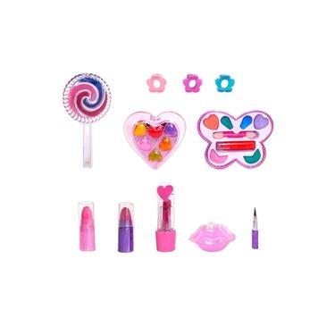 Imagem de Estojo de Maquiagem com Sombra a Batom para Crianças com 13 peças