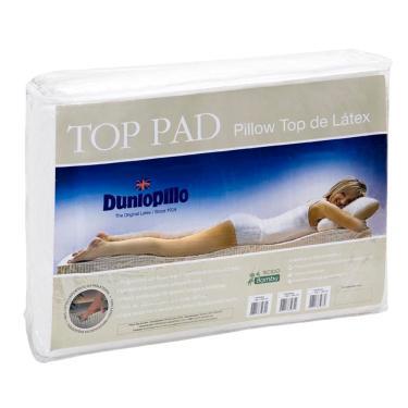 Imagem de Pillow top de Látex Casal Queen size capa bambu 198X158X3 cm Top Pad Dunlopillo Copespuma
