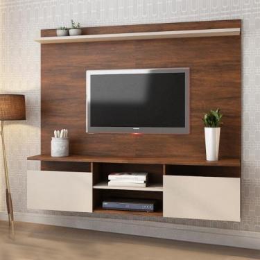 Painel Home Suspenso para TV até 55 Polegadas Noel Pinho/Off White - V