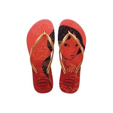 Imagem de Havaianas Slim Princesas Vermelho Apache