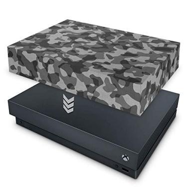 Capa Anti Poeira para Xbox One X - Camuflagem Cinza