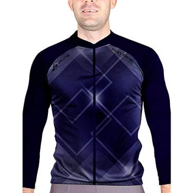 Camisa Blusa Elite Bike 125999 Masculina Ciclismo Marinho Cor:azul;tamanho:m