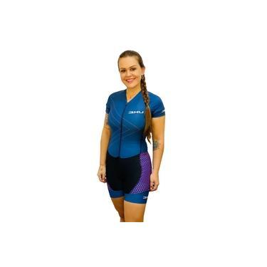 Macaquinho Ciclismo Macan Azul Marinho/Rosa - Refactor