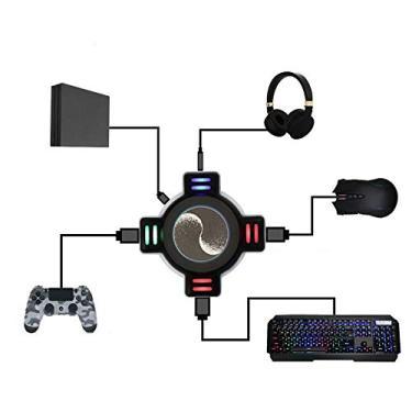 Adaptador de teclado e mouse, controlador de jogo e conversor de teclado e mouse, adaptador de console de jogo para PS4 / PS4 Pro / PS4 Slim/XBOXOne/XBOXOne S/XBOXOne X / PS3 / PS3 Slim/Switch