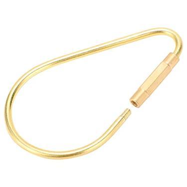 Imagem de Porta-chaves, clipe de bloqueio de parafuso durável Clipe de chave dourado Organizador de porta-chaves Tipo de parafuso retrô Clipe de bloqueio para homens e mulheres para exteriores(small)