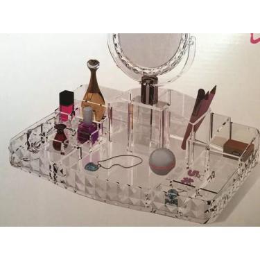 Imagem de Porta Maquiagem Batons Organizador Acrílico Kit Banheiro - Gold