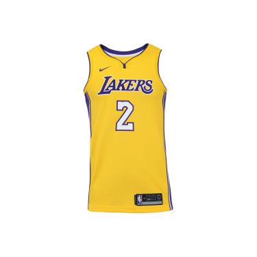 Camisa Regata Nike NBA Los Angeles Lakers Lonzo Ball 2 - Masculina -  AMARELO ROXO 58bf8c8ca50