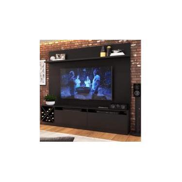 Estante Home Para TV até 50 Polegadas 2 Portas Adega Vicenza Quiditá Preto -