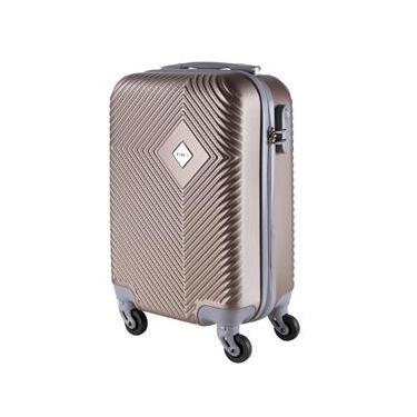 Malas de Bordo Pequena para Viagem em ABS Yins 21060 Rodinhas Removíveis Cadeado Integrado Champagne