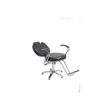 Poltrona Cadeira Topazio Reclinavel Hidraulica Cabeleireiro - Cor: Preto Croco