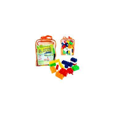 Imagem de Brinquedo Educativo Blocos de Montar Cubos Junior 60 Peças