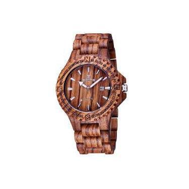 1344704da56 Relógio Masculino Skone Analógico Madeira 7397bg - Mrc