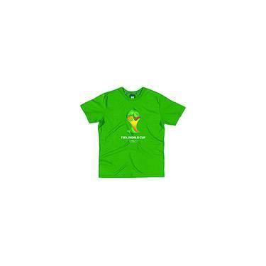 Camiseta Verde Bandeira 3 Masculina - Copa do Mundo da FIFA 2014 - FIFA ac6d456762e58