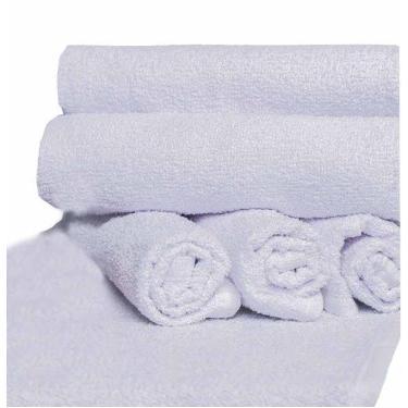 Imagem de Kit 45 toalhas lavabo para manicure salão de beleza branca